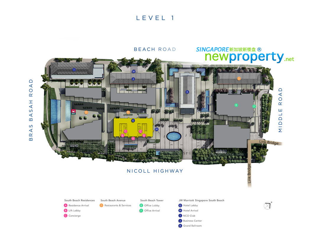 South Beach Residences Site Plan L1