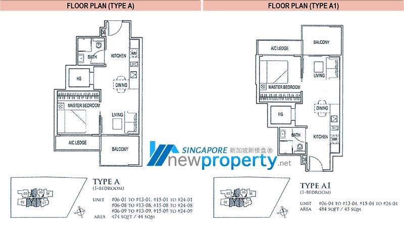 26 Newton Floor Plan - 1 Bedroom