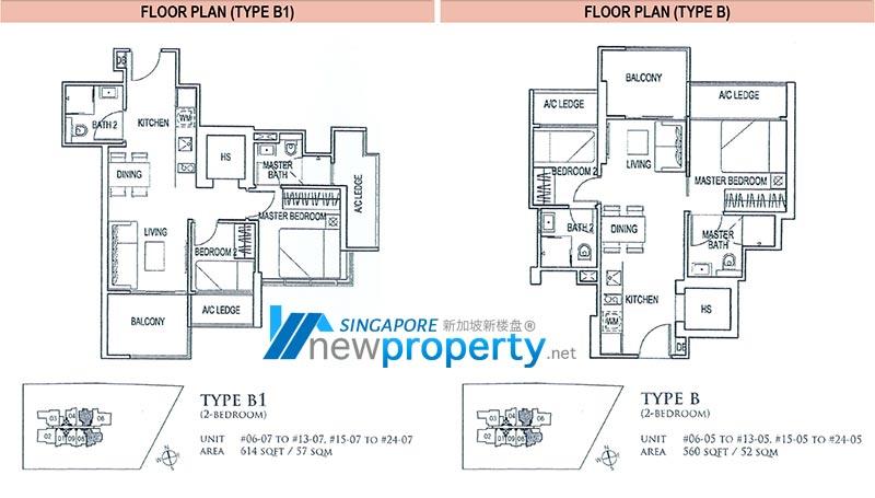 26 Newton Floor Plan - 2 Bedroom