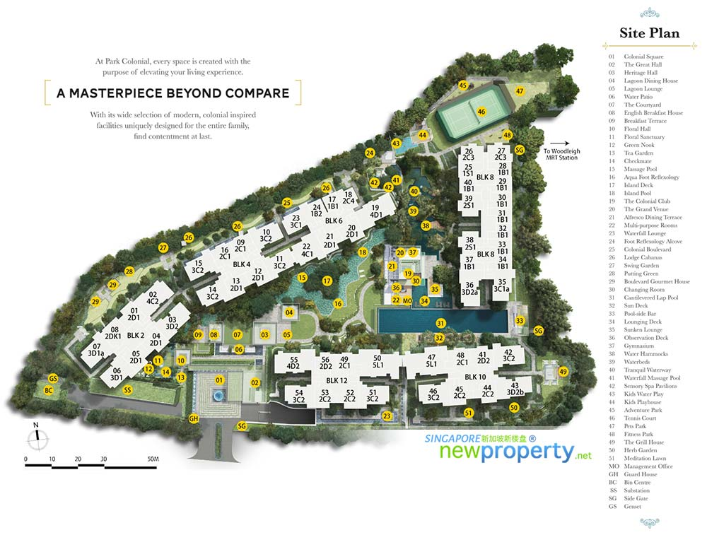 Park Colonial - Siteplan
