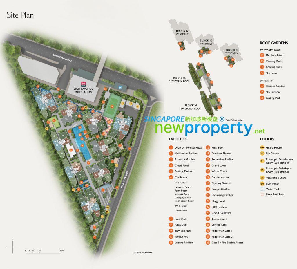Fourth Avenue Residences siteplan