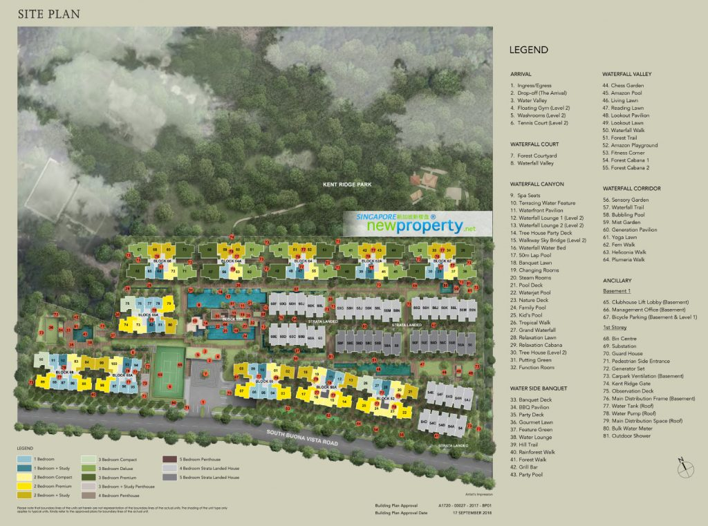 Kent Ridge Hill Residences Site Plan