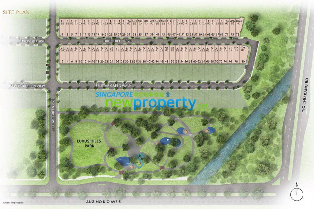 Luxus Hill Site Plan