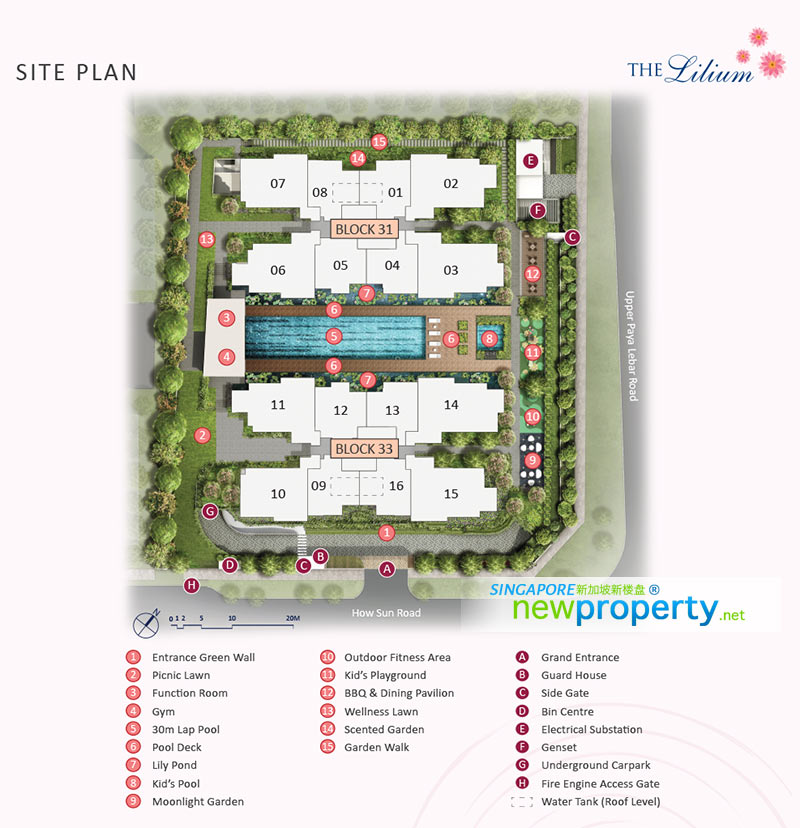 The Lilium Site Plan