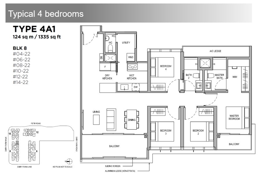 Dairy Farm Residences 4 Bdrm Floor Plan