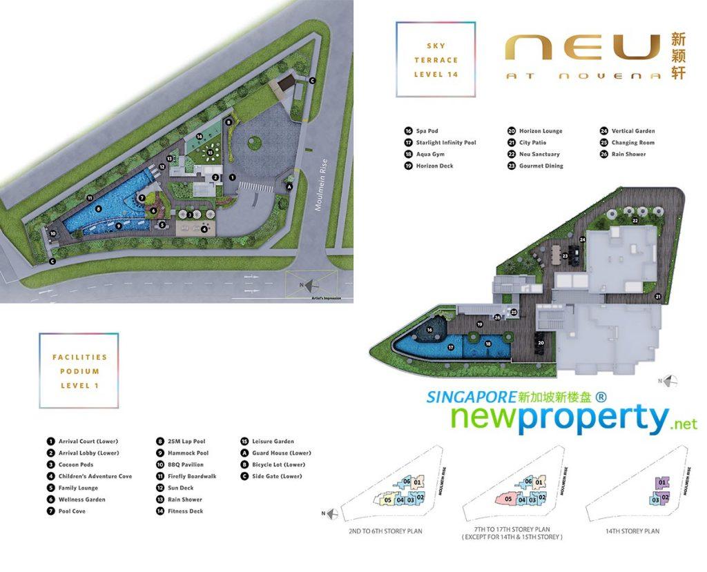 NEU @ Novena Site Plan