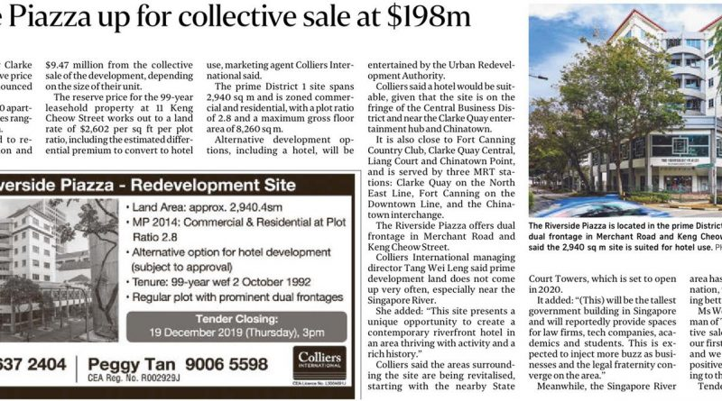 Riverside Piazza up for collective sale at $198m
