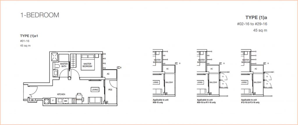 Midwood 1 Bdrm Floor Plan