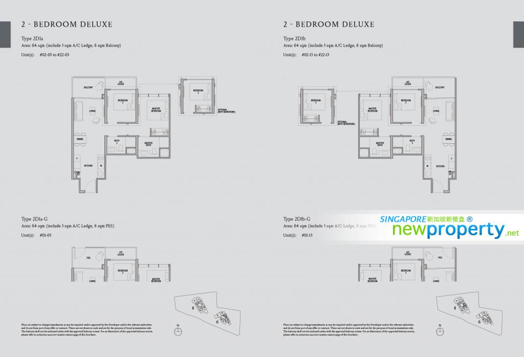 Kopar at Newton - 2 Bdroom Deluxe Floor Plan
