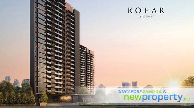 Kopar at Newton Facade