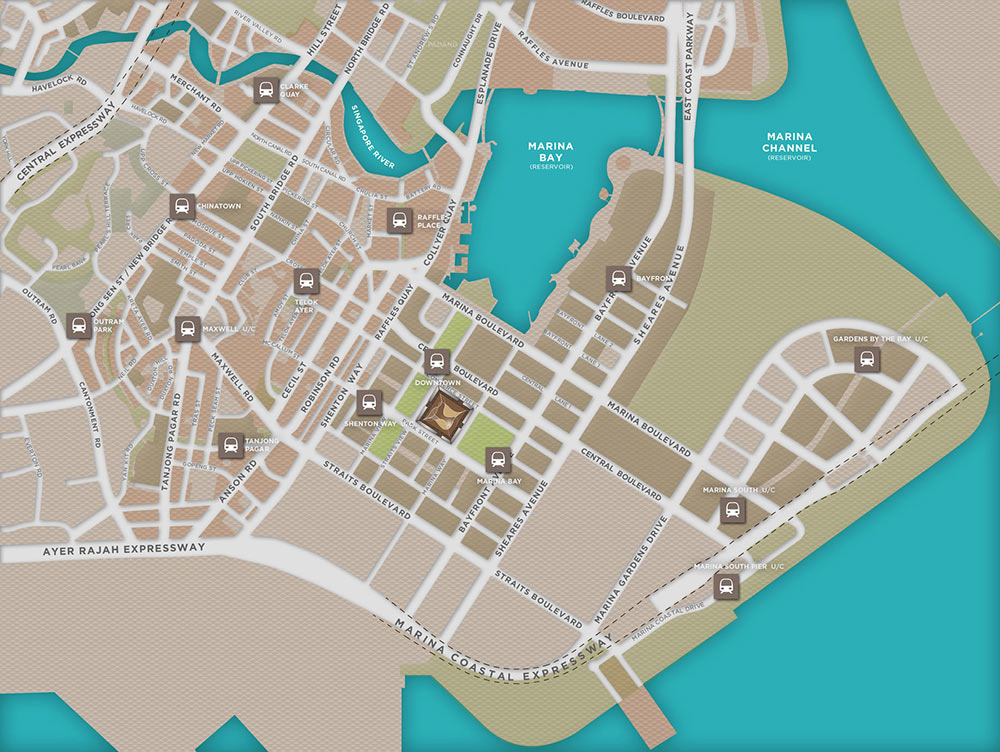Marina One Residences Location Map