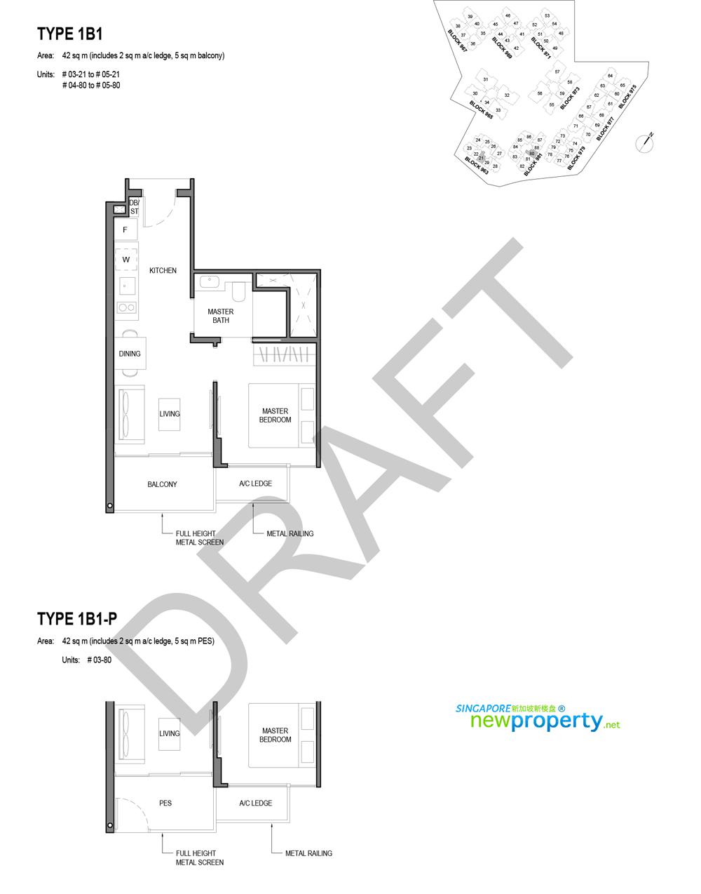 Parc Komo 1 Bdrm Floor Plan