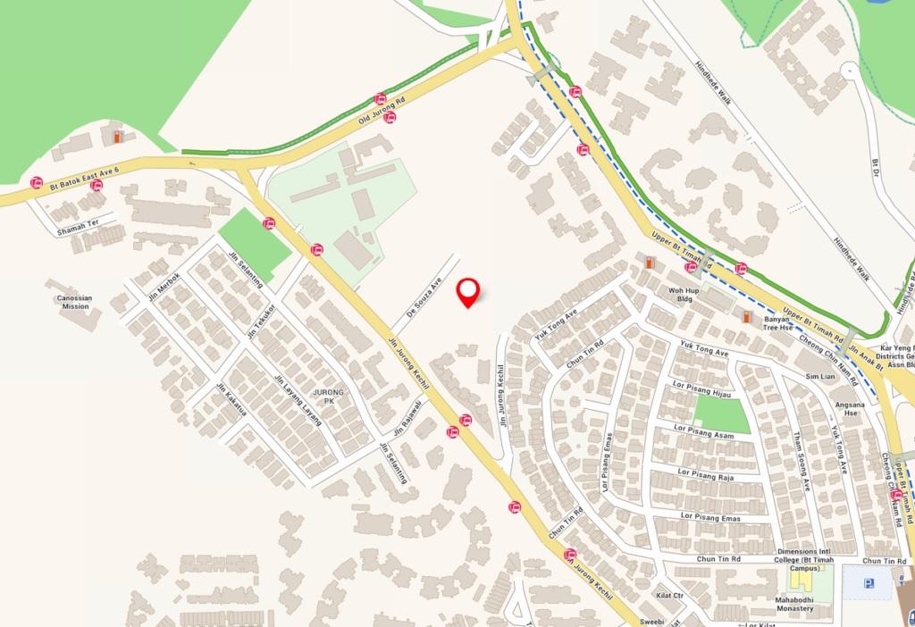The Verdale Condo Location Map