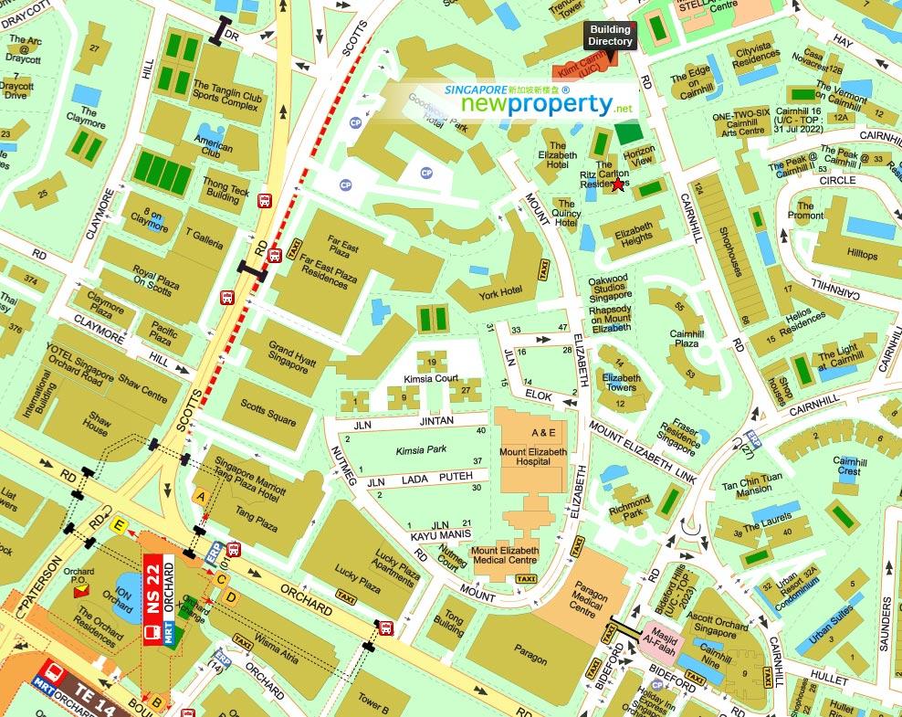 Klimt Cairnhill Map