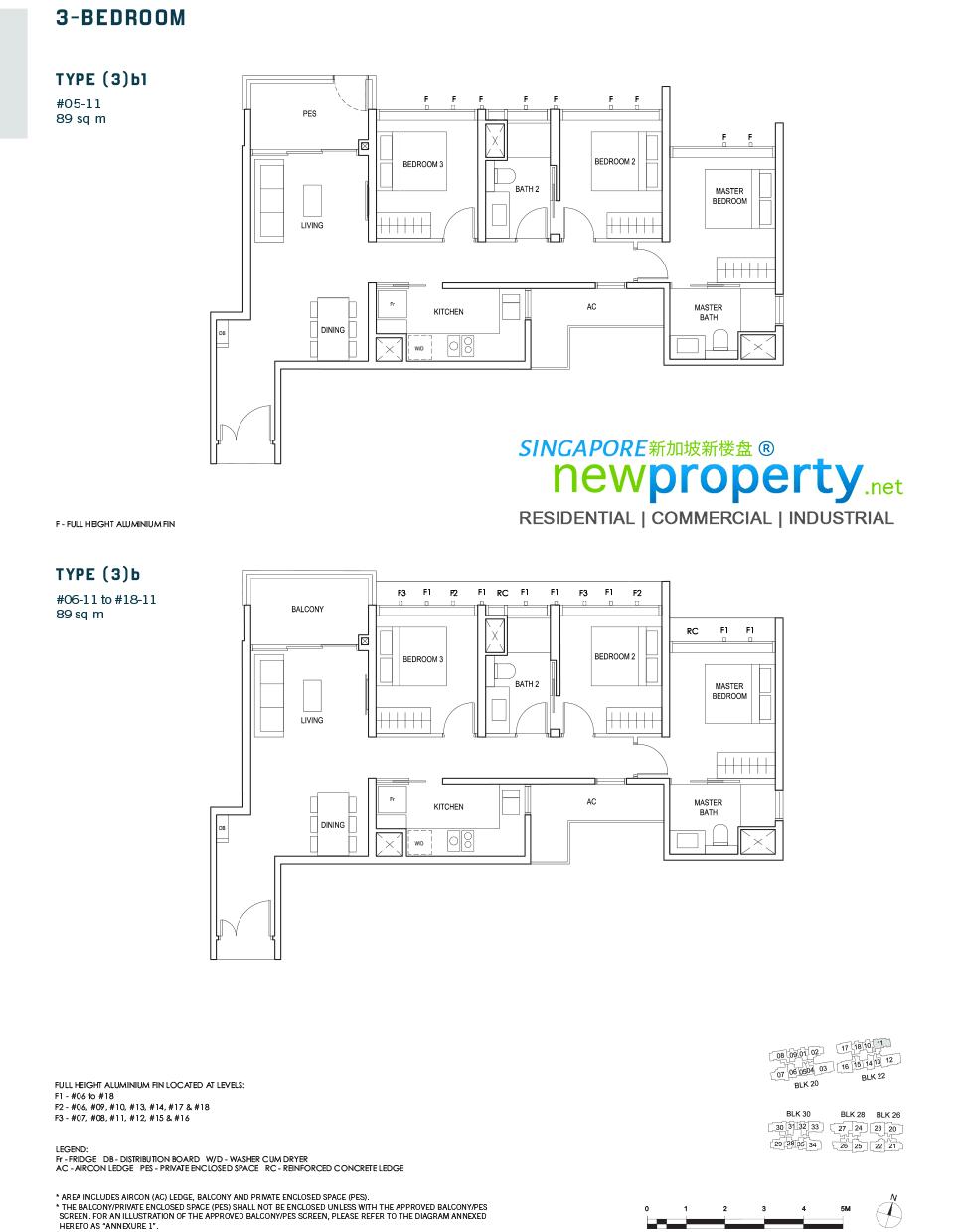 Penrose Floor Plan 3-Bedroom