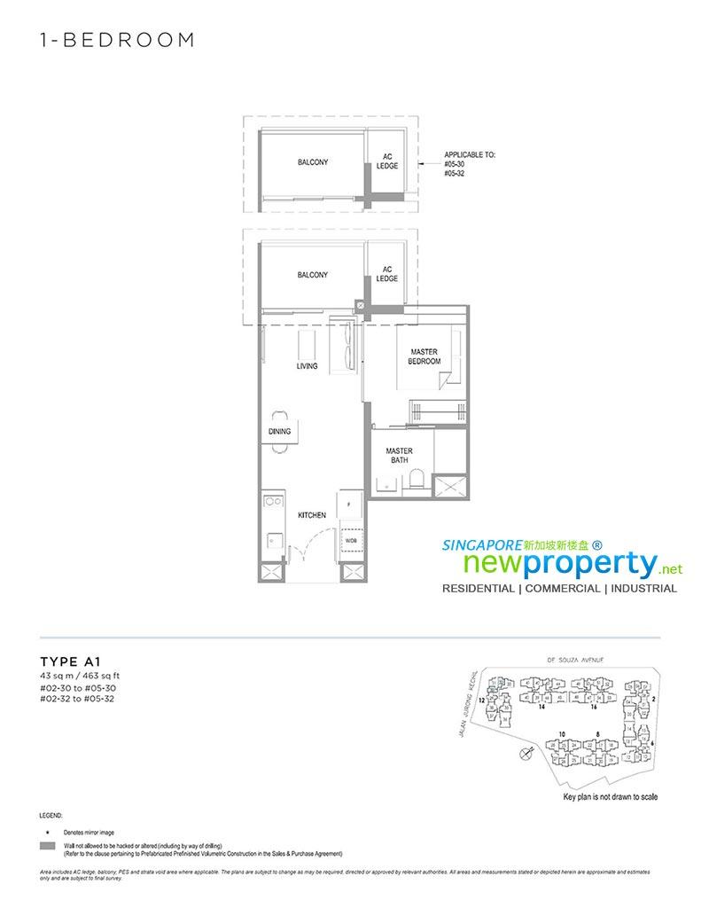 Verdale-1-Bedroom-Floor-Plan