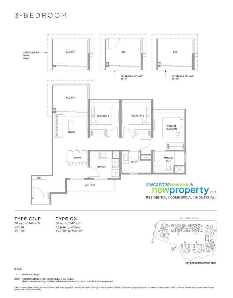 Verdale-3-Bedroom-Floor-Plan