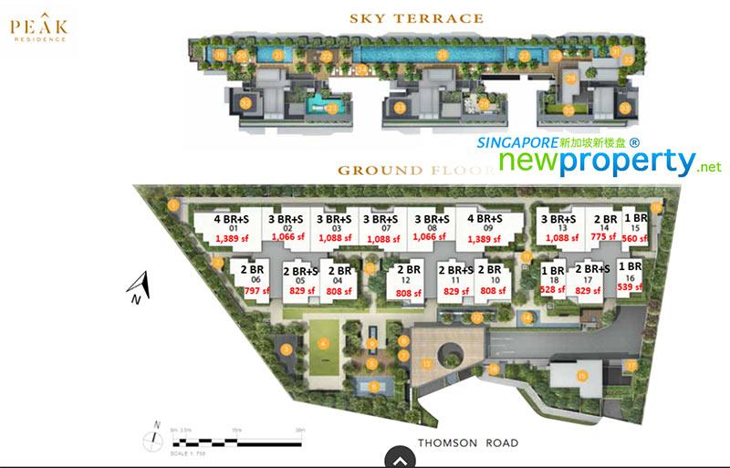 Peak Residence Site plan